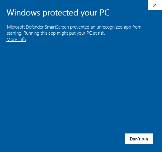 Windows Smart Screen